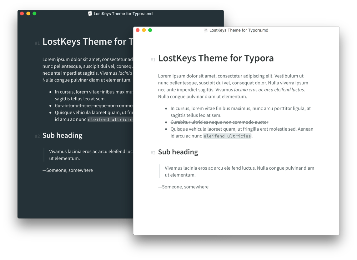 Preview of Lostkeys theme